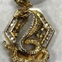 14KT Two Tone Snake Pendant