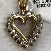 10KT Yellow Gold Heart Pendant