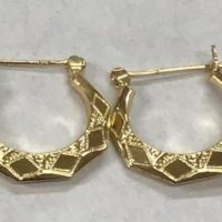 14KT Yellow Gold Hoop Earring Set