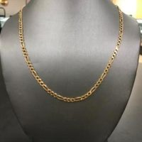 14KT Yellow Gold Figaro Necklace