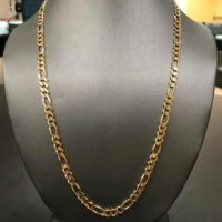 10KT Yellow Gold Figaro Necklace