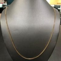 14KT Yellow Gold Box Link Necklace
