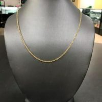 14KT Yellow Gold Rope Necklace
